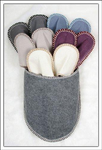 g stehausschuhe 11 tlg set grau pantoffel hausschuhe. Black Bedroom Furniture Sets. Home Design Ideas