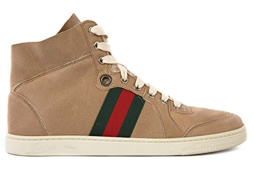 gucci damenschuhe damen leder schuhe high sneakers lindberg beige eu 39 270082 brj10 2660. Black Bedroom Furniture Sets. Home Design Ideas