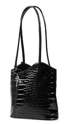 io io mio leichter damen leder rucksack handtasche schultertasche umh ngetasche daypack. Black Bedroom Furniture Sets. Home Design Ideas