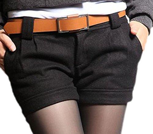 erdbeerloft damen kurze stoffhose short mit g rtel 40 schwarz modische modemodische mode. Black Bedroom Furniture Sets. Home Design Ideas