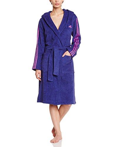 adidas damen bademantel 3 stripes violett xl s20702. Black Bedroom Furniture Sets. Home Design Ideas